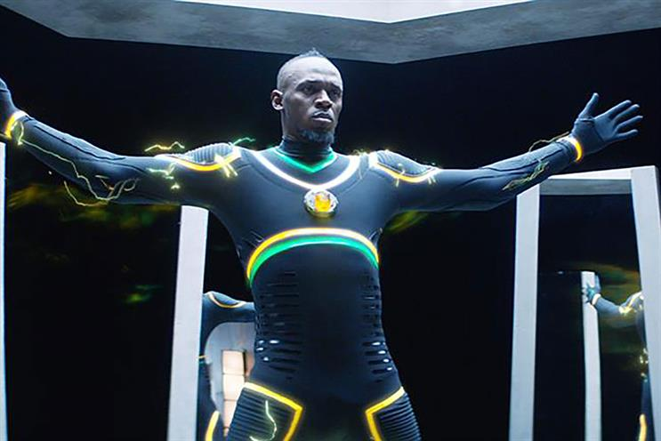 A recent Virgin Media ad by BBH, starring Usain Bolt