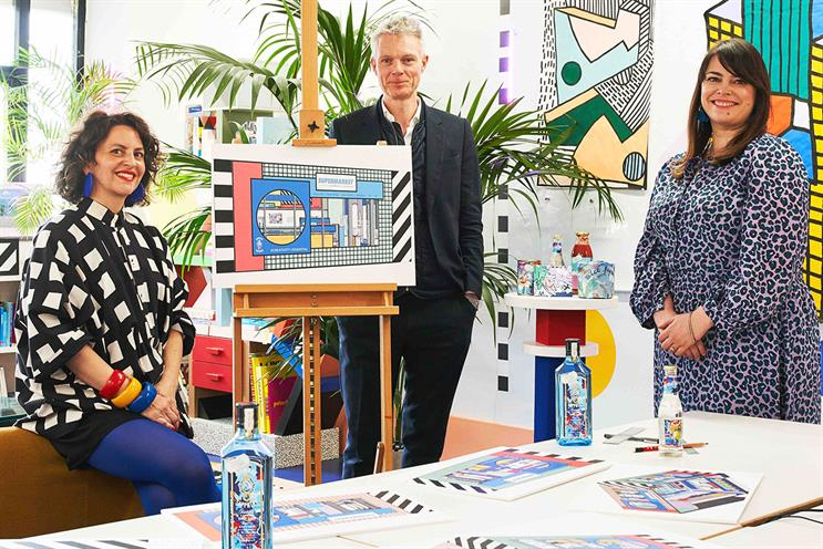 Bombay Sapphire: Camille Walala (left) has designed the store space