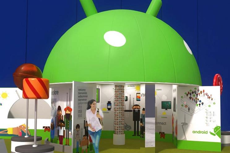 An artistic impression of Android's Lollipop-ups