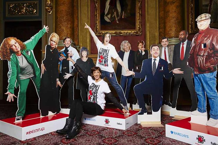 The Red Nose Day donation statues will land in shopping centres today