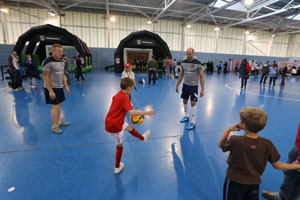 Vauxhall competition winners entered the #LionsDen at St George's Park