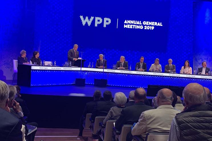 WPP: has increased base salaries between 1% and 2% for past three years
