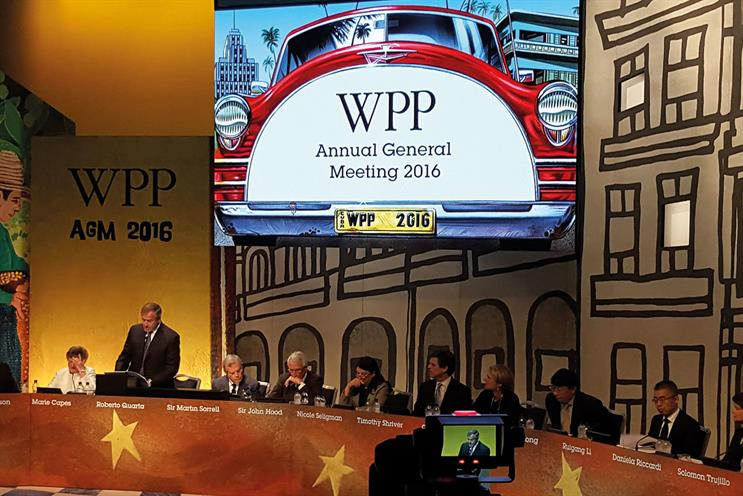 WPP AGM: one-third of shareholders voted against Sorrell's £70m package