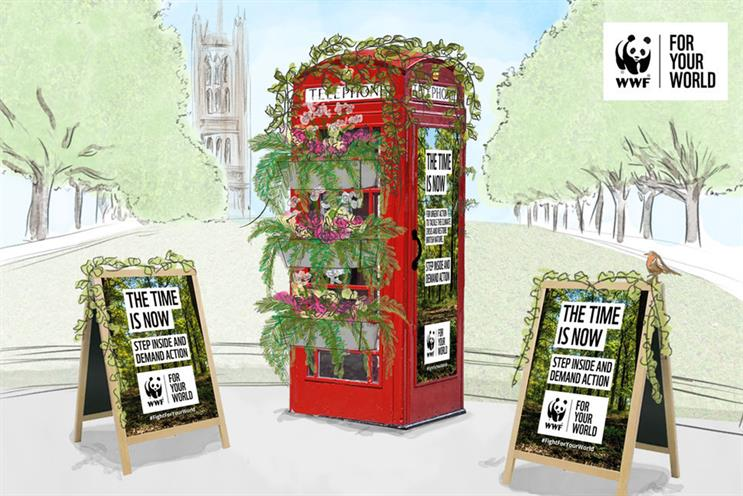WWF: native plants used in 'nature phone box' campaign