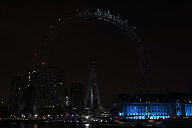 London Eye: among landmarks that will still observe switch-off