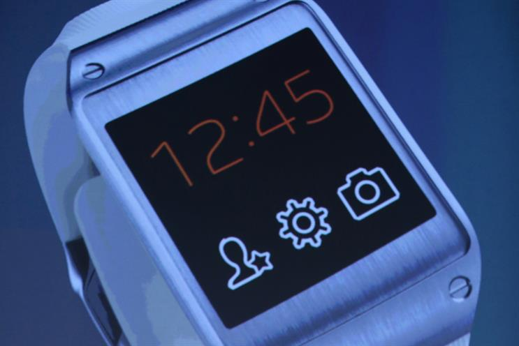 Samsung: unveiled Galaxy Gear at the IFA last week. Credit: Getty Images