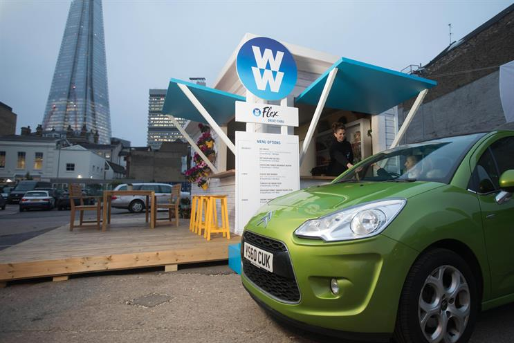 Weight Watchers: opened a drive thru healthy food pop-up in London in January