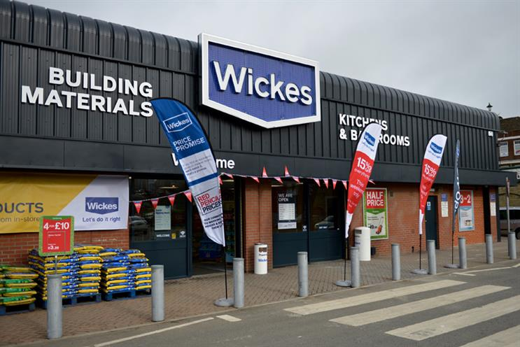 Wickes: takes over from British Gas as sponsor of Homes on 4