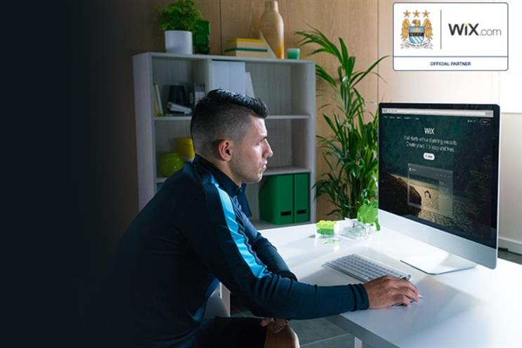Man City: Sergio Aguero gets techie to promote new Wix.com sponsorship