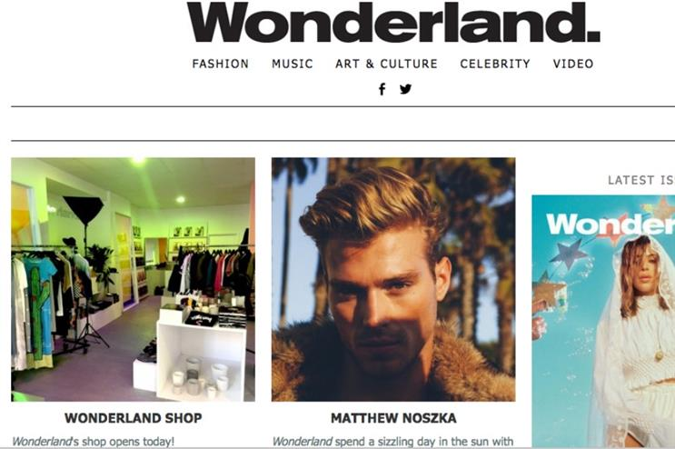 Wonderland Magazine launches fashion pop-up
