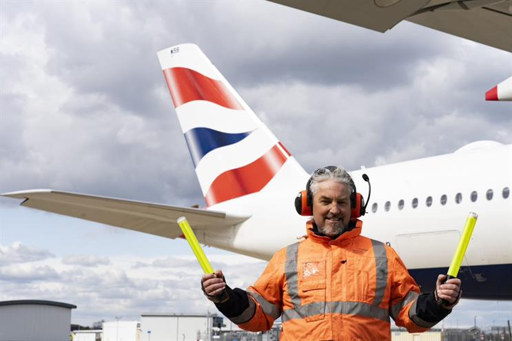 BA: ad features ground operations lead Chelsea Rawlings, aka 'the baton guy'