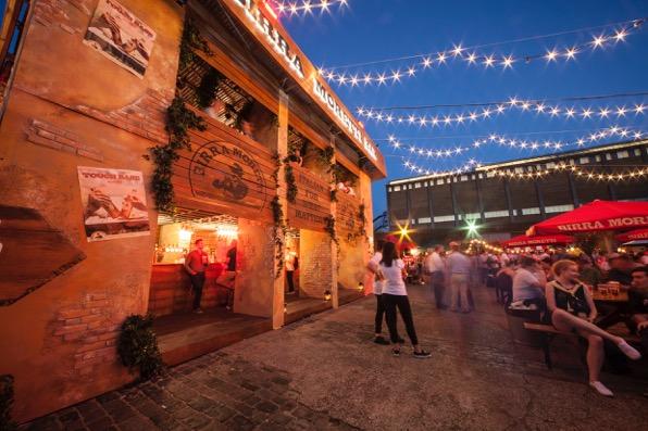 The event featured nine Italian street food vendors