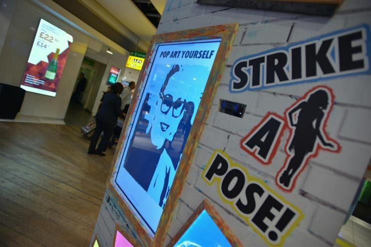 Visitors can create a pop-art inspired selfie