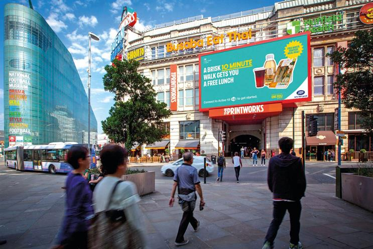 Public Health England encourages brisk walking with digital outdoor ads