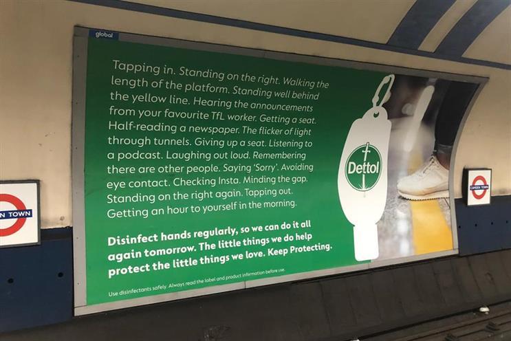 Dettol: Reckitt brand's outdoor campaign from last September