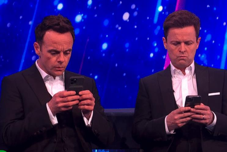 Ant & Dec: began texting Mo Farah during 'Saturday Night Takeaway'