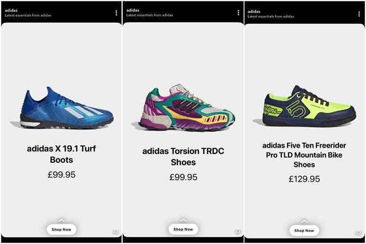 Adidas: has been testing Dynamic Product Ads in recent weeks