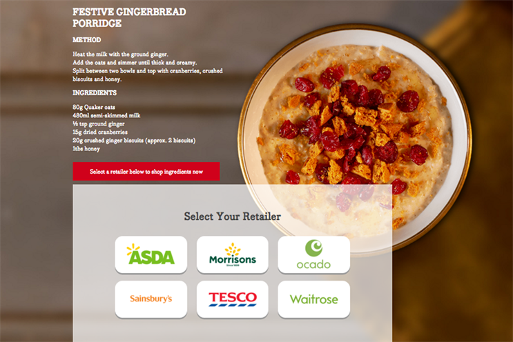 Adimo lets shoppers automatically add recipe ingredients to online supermarket shopping baskets