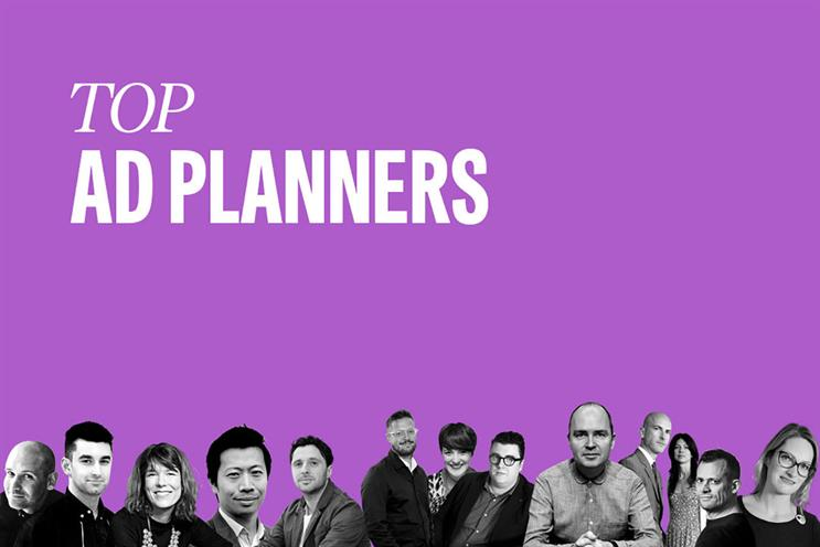 Top ad planners: Gregory, Lion, Jameson, Lee, Williams, Beverley, Mackay-Sinclair, Gallery, Nairn, Mawdsley, Angear, Huntington and Arden