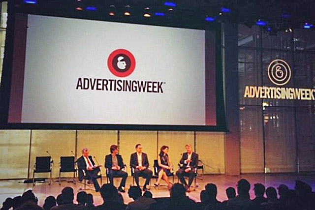 Executives from ESPN: Live Nation, Amazon and CBS joined Sir Martin Sorrell on stage in New York.