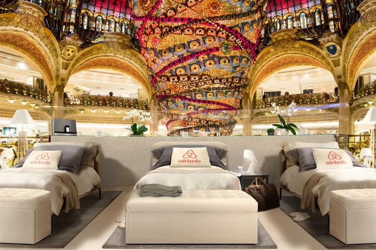 Airbnb partners with Galeries Lafayette for shopping experience