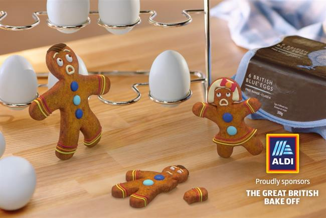 Aldi: McCann Manchester created the idents featuring a gingerbread family