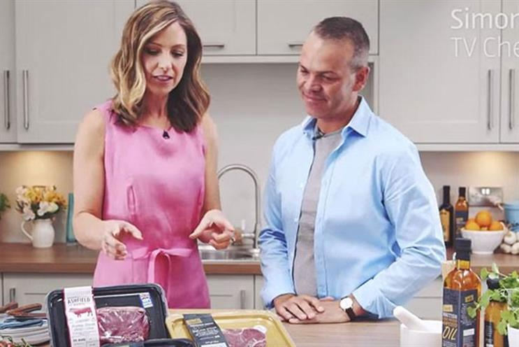 The Taste Kitchen: Aldi's YouTube show will be hosted by Helen Grumby, pictured with chef Simon Wood