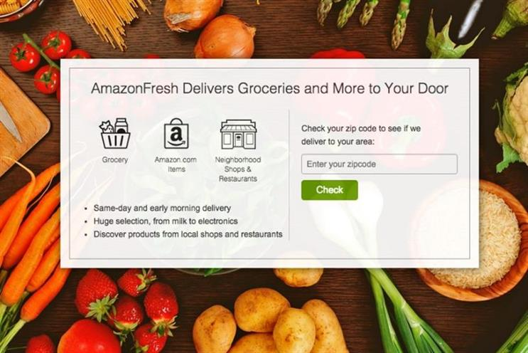 Amazon Fresh: reported to be launching on 18 April