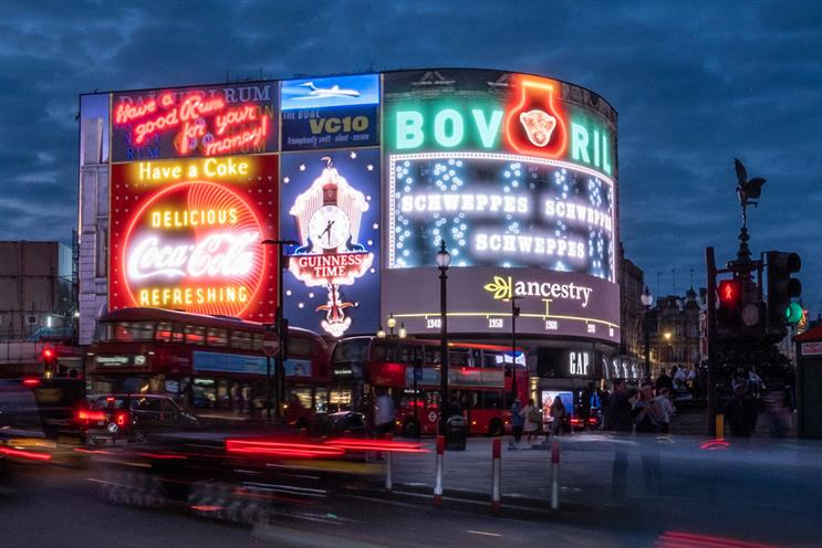 Ancestry's 'The old Picadilly lights by Anomaly London: a winner of the 2019 competition and a Silver Outdoor Lion at Cannes 2021
