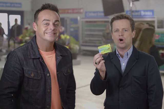 Ant and Dec shop at Morrison's