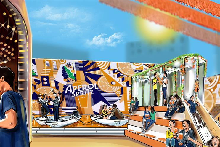 Aperol's biggest ever UK event will feature an orange canal