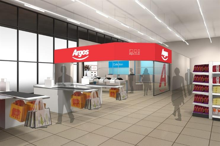 Argos will open digital stores inside 10 Sainsbury's supermarkets