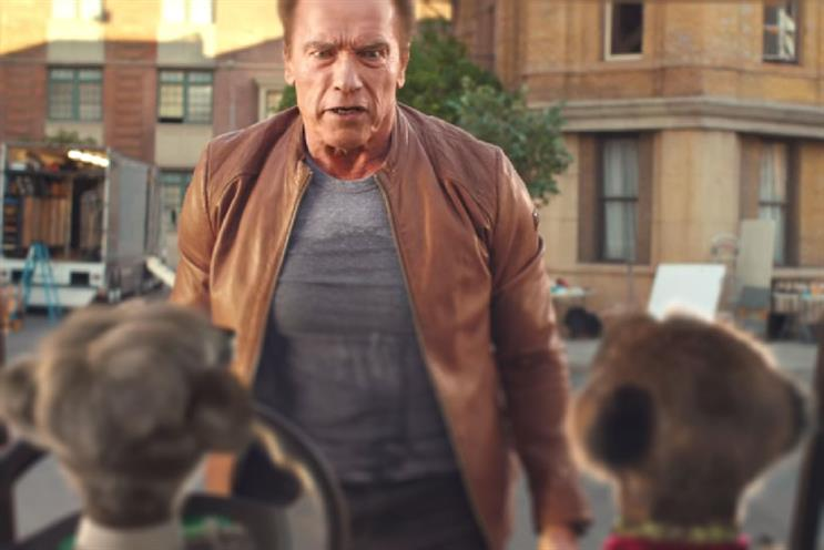 Arnold Schwarzenegger is back, with Comparethemarket.com