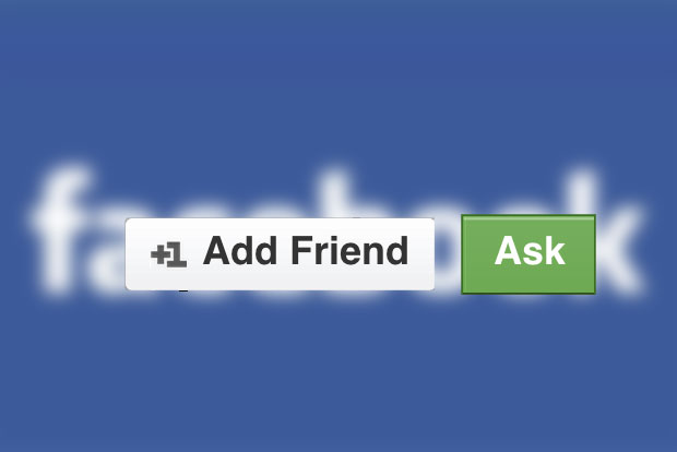 Facebook: What the 'Ask' button could look like