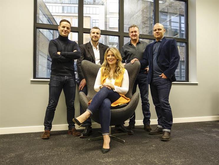 Atomic London: Dedman (front, centre) joins Richard Hall, Jon Goulding, Nick Fox and Guy Bradbury