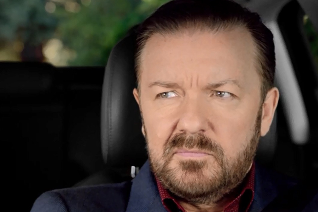 Ricky Gervais should 'stay unfunny in own country' according to Audi A3 campaign