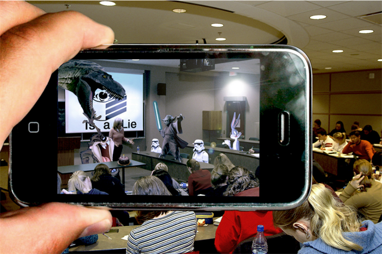 AR allows consumers to blend the real and virtual worlds (Creative Commons: Tom)