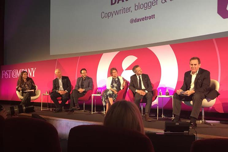 Marketing Society event at AdWeek: (left to right) Greaves, Wheldon, Al-Qassab, Gilbert, Boyer, Trott