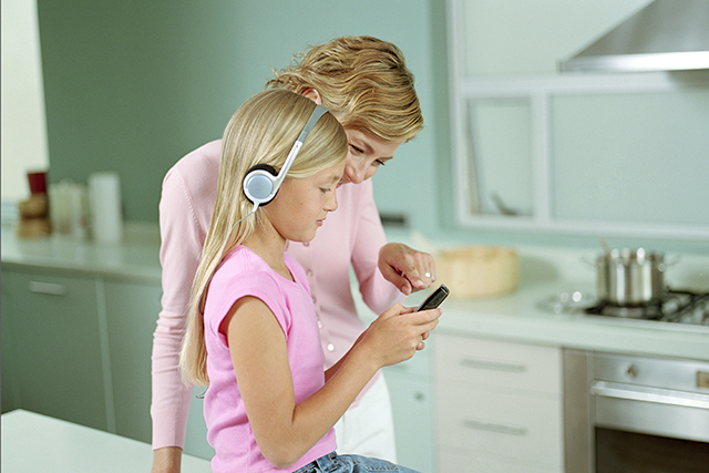 Mothers are increasingly turning to their mobile devices as babysitters