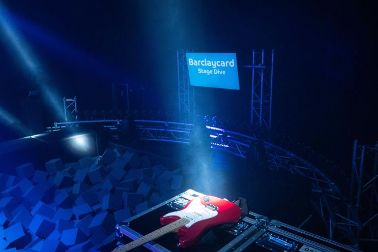 Barclaycard creates festival stage diving experience