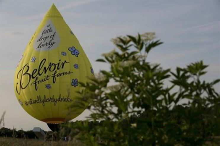 Belvoir: hot air balloon tours and tastings