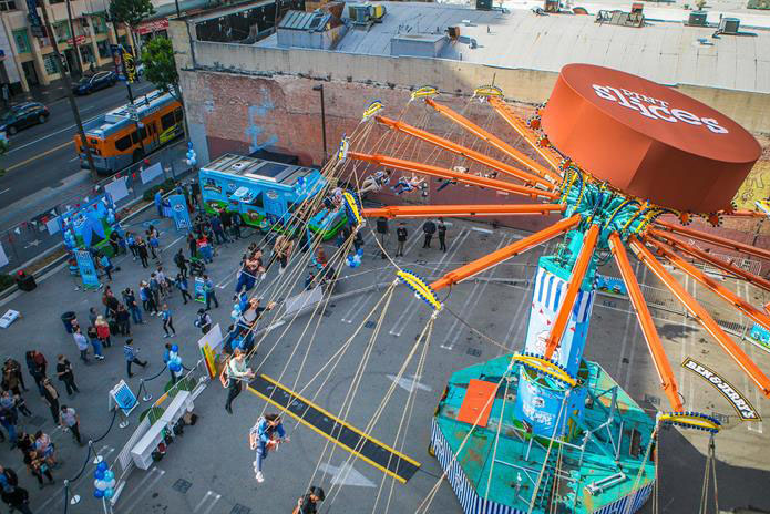Ben & Jerry's uses giant swing to launch new varieties