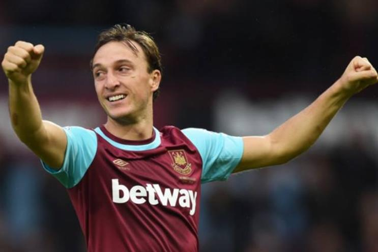 West Ham: one of nine Premier League clubs to have a shirt sponsorship deal with a betting brand