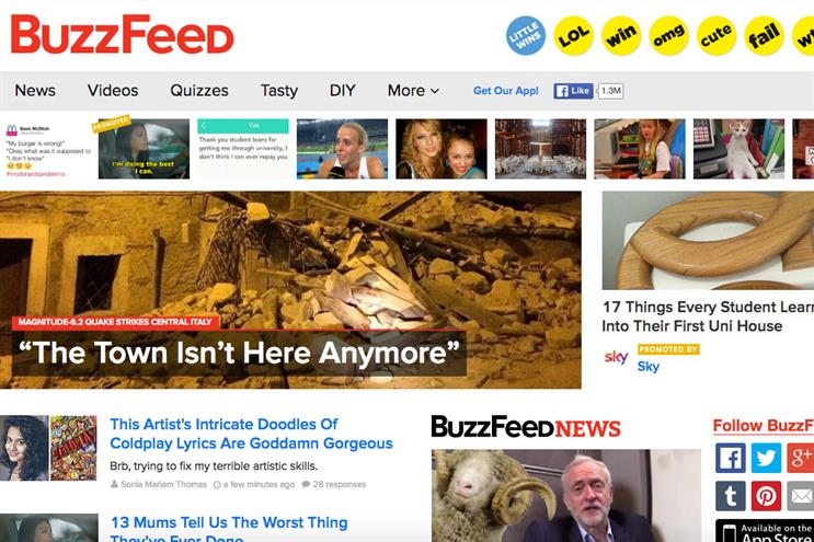 BuzzFeed splitting into news and entertainment arms