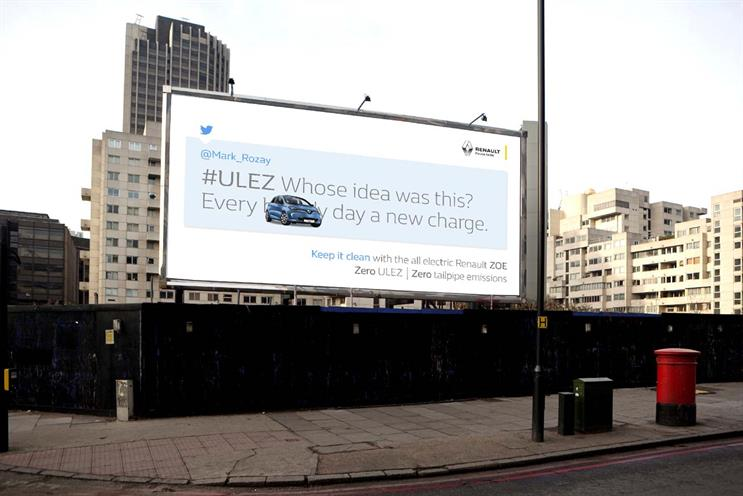 Renault pokes fun at angry tweeters as London's new emission zone commences