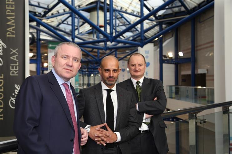 LDC's CEO Martin Draper, NEC Group's CEO Paul Thandi and LDC's director Steve Aston