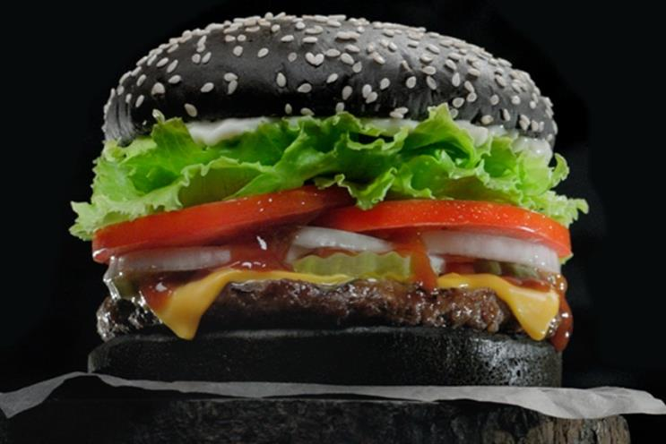 Burger King: limited edition Halloween burger comes with black buns