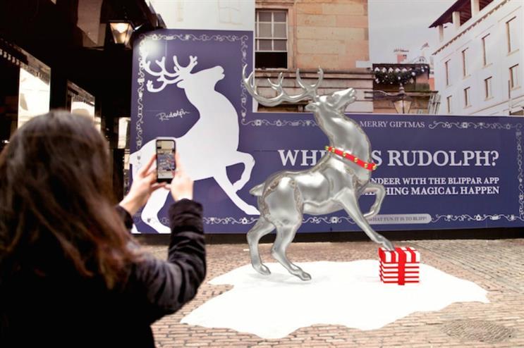 Blippar: Santa and reindeer activation