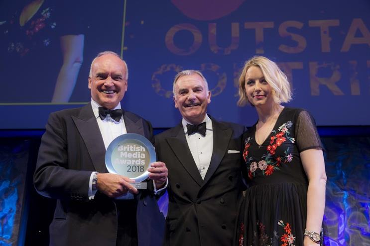 Outstanding contribution: Coleridge, Costello, and British Media Awards host Lauren Laverne