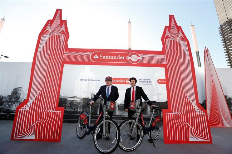 Santander named as new sponsor of 'Boris bikes'